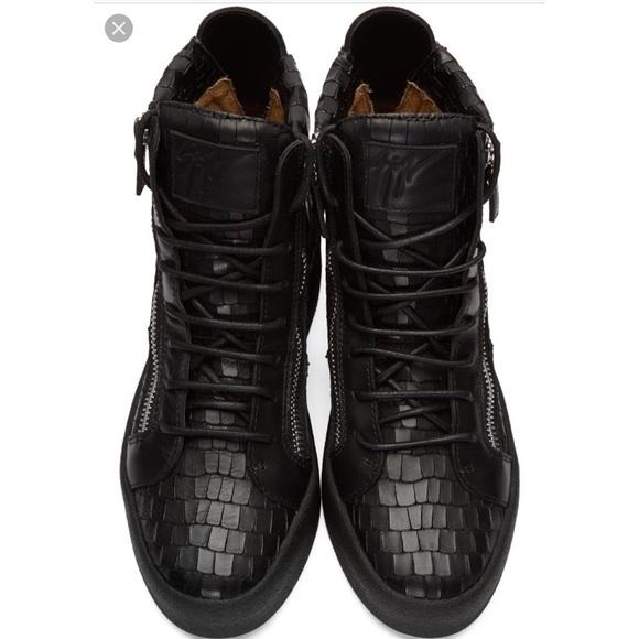97426a92fc05b Giuseppe Zanotti Shoes | Leather Croc Print Sneaker | Poshmark